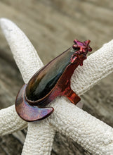 Load image into Gallery viewer, Size 4 Purple Labradorite Copper Electroformed Ring - Minxes' Trinkets