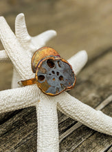 Load image into Gallery viewer, Size 12.5 Fossilized Ammonite Copper Electroformed Ring - Minxes' Trinkets