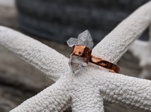 Load image into Gallery viewer, Size 8.5 Herkimer Diamond Copper Electroformed Ring - Minxes' Trinkets