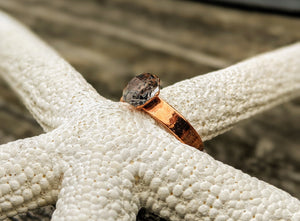 Size 6 Herkimer Diamond Copper Electroformed Ring III - Minxes' Trinkets