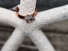 Load image into Gallery viewer, Size 6 Herkimer Diamond Copper Electroformed Ring - Minxes' Trinkets