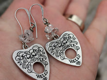 Load image into Gallery viewer, Ouija Earrings with Herkimer Diamonds I - Minxes' Trinkets