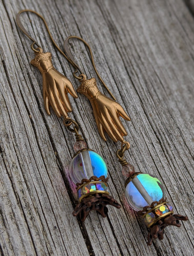 Fortune Teller Crystal Ball Earrings II - Minxes' Trinkets