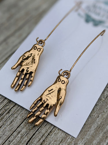 Palmistry Earrings - Simple - Minxes' Trinkets