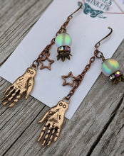 Load image into Gallery viewer, Palmistry and Fortune Teller Crystal Ball Earrings - Minxes' Trinkets