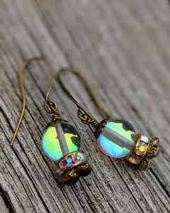 Crystal Ball Earrings - The Future is Clear - Minxes' Trinkets