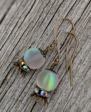 Load image into Gallery viewer, Crystal Ball Earrings - The Future is Murky - Minxes' Trinkets