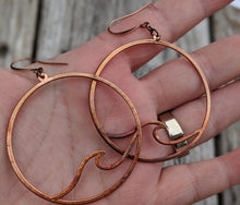Load image into Gallery viewer, Ocean Wave Copper Electroformed Earrings - Minxes' Trinkets