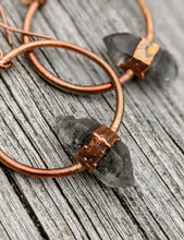 Load image into Gallery viewer, Herkimer Diamond Copper Electroformed Earrings - Minxes' Trinkets