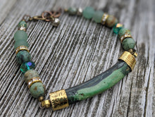 Load image into Gallery viewer, Boho Abalone and Jasper Gemstone Bracelet - Minxes' Trinkets