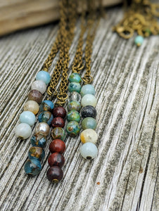 Simple Czech Glass Bead Necklace - Minxes' Trinkets