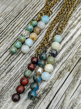 Load image into Gallery viewer, Simple Peruvian Blue Opal Necklace - Minxes' Trinkets