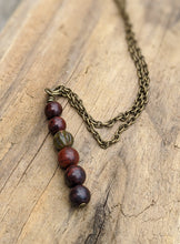 Load image into Gallery viewer, Simple Red Jasper Necklace - Minxes' Trinkets