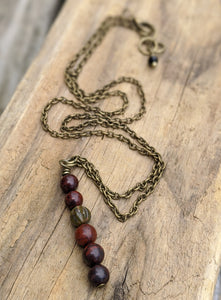 Simple Red Jasper Necklace - Minxes' Trinkets
