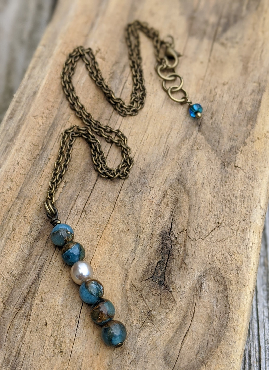 Simple Peruvian Blue Opal Necklace - Minxes' Trinkets