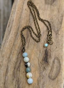 Simple Amazonite Necklace II - Minxes' Trinkets
