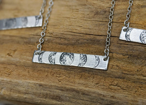 "Moon Phase Bar Necklace - 16"" - Minxes' Trinkets"