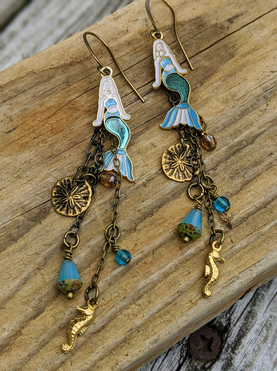 Mermaid Shoulder Duster Earrings - Minxes' Trinkets