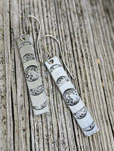 Moon Phase Bar Earrings - Minxes' Trinkets