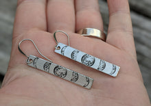 Load image into Gallery viewer, Moon Phase Bar Earrings - Minxes' Trinkets