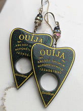 Load image into Gallery viewer, Ouija Planchette Earrings - aurora borealis - Minxes' Trinkets