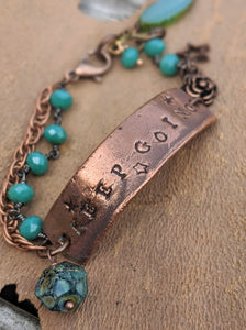 KEEP GOING Wrist Reminder Bracelet - Copper Electroformed - Minxes' Trinkets