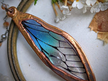 Load image into Gallery viewer, Relic Fairy Wing Rosary Necklace - Resin and Copper Electroformed 15