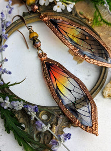Relic Fairy Wing Earrings - Resin and Copper Electroformed 4