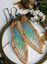 Load image into Gallery viewer, Carnival Row Fairy Wing Copper Electroformed Earrings - 14