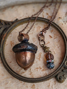 Copper Electroformed Acorn - #2