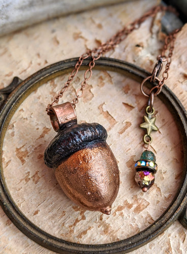 Copper Electroformed Acorn - #4
