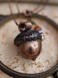 Copper Electroformed Acorn - #7
