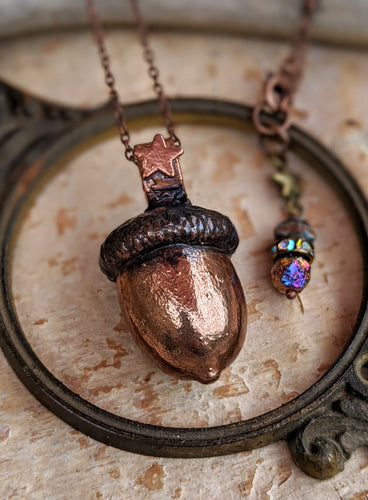 Copper Electroformed Acorn - #9