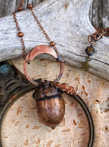 Copper Electroformed Acorn - #11