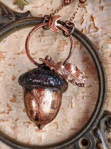 Copper Electroformed Acorn - #13