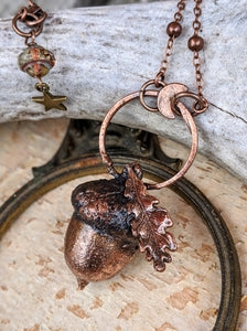 Copper Electroformed Acorn - #19