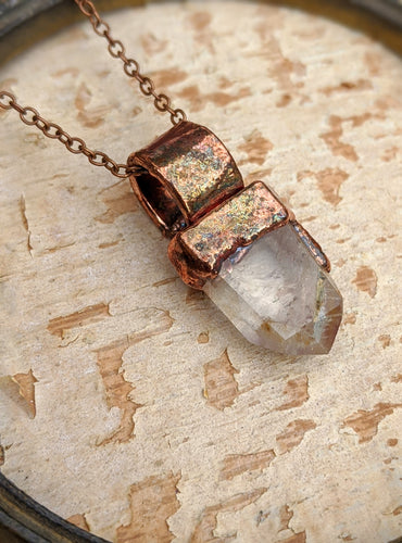 Quartz Point Electroformed Necklace - #1
