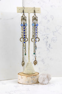 Blue Romance - Shoulder Duster Earrings - Minxes' Trinkets