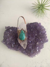 Load image into Gallery viewer, Quartz & Chrysocolla Electroformed Necklace - Minxes' Trinkets