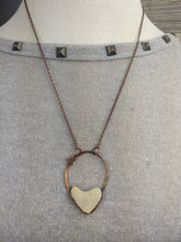 Load image into Gallery viewer, Heart-shaped Beach Pebble Copper Electroformed Valentine's Necklace - #9 - Minxes' Trinkets