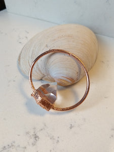 Electroformed Quartz Point Hoop Necklace - Minxes' Trinkets