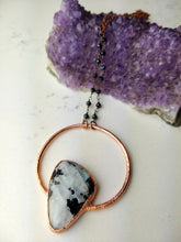 Load image into Gallery viewer, Tourmalinated Moonstone Electroformed Necklace - Minxes' Trinkets