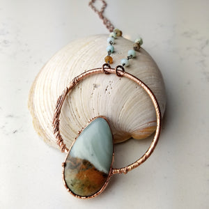Ocean Picture Stone Electroformed Necklace - Slipstream - Minxes' Trinkets