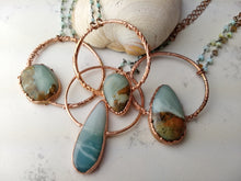 Load image into Gallery viewer, Ocean Picture Stone Electroformed Necklace - Seaspray - Minxes' Trinkets