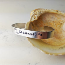 "Load image into Gallery viewer, ""Chesapeake"" Aluminum Cuff Bracelet - Minxes' Trinkets"