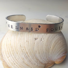 "Load image into Gallery viewer, ""Mermaid Soul"" Aluminum Cuff Bracelet - Minxes' Trinkets"