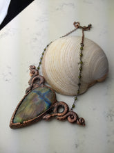 Load image into Gallery viewer, Labradorite and snakes electroformed necklace - HOLD FOR MIYUN - Minxes' Trinkets