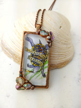 Load image into Gallery viewer, Terrapin Pendant - Copper Electroformed Necklace - Minxes' Trinkets