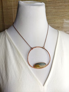 Landscape Jasper - Copper Electroformed Necklace - Minxes' Trinkets