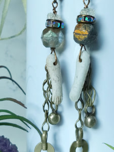Bare Arms - Vintage Doll Arm Earrings - Minxes' Trinkets